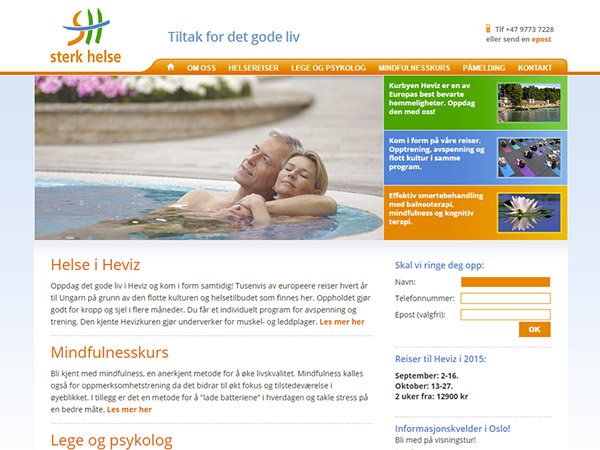 Sterk Helse Website